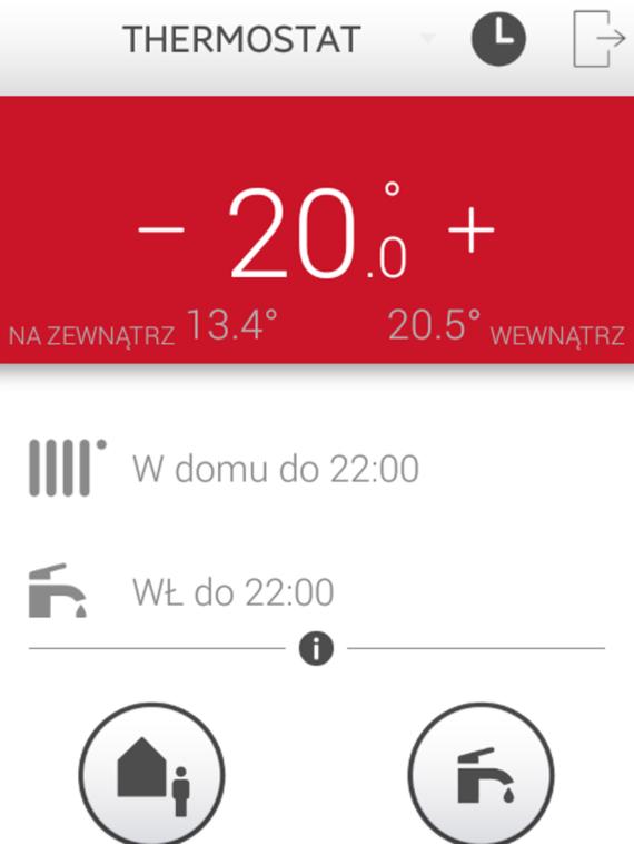 Ekran główny aplikacji MiGo Saunier Duval
